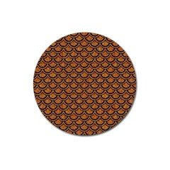 Scales2 Black Marble & Rusted Metal Magnet 3  (round) by trendistuff