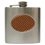 SCALES2 BLACK MARBLE & RUSTED METAL Hip Flask (6 oz)