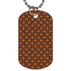 Scales2 Black Marble & Rusted Metal Dog Tag (two Sides) by trendistuff