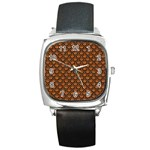 SCALES2 BLACK MARBLE & RUSTED METAL Square Metal Watch