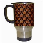 SCALES2 BLACK MARBLE & RUSTED METAL Travel Mugs (White)