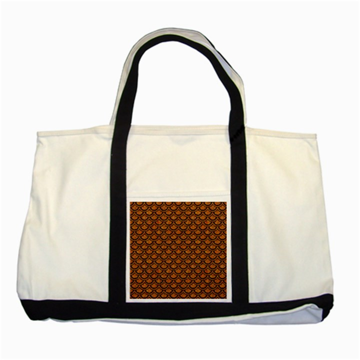 SCALES2 BLACK MARBLE & RUSTED METAL Two Tone Tote Bag