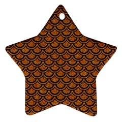 Scales2 Black Marble & Rusted Metal Star Ornament (two Sides) by trendistuff