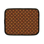 SCALES2 BLACK MARBLE & RUSTED METAL Netbook Case (Small)