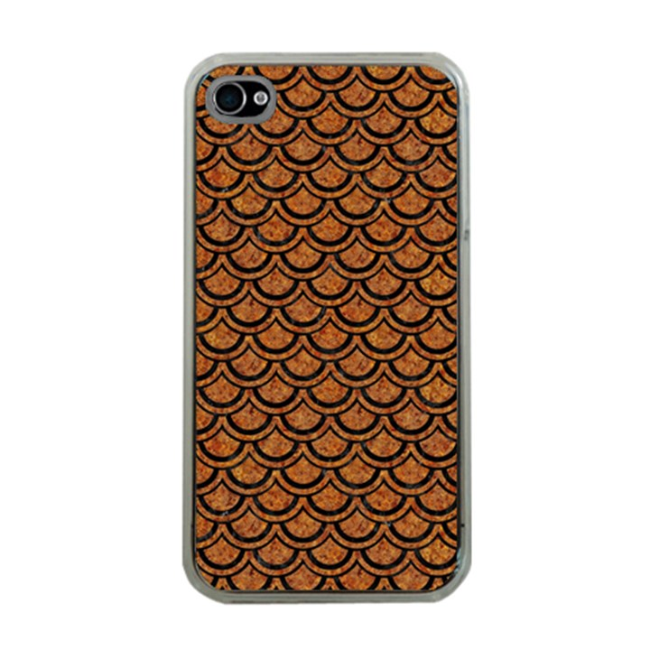 SCALES2 BLACK MARBLE & RUSTED METAL Apple iPhone 4 Case (Clear)
