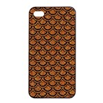 SCALES2 BLACK MARBLE & RUSTED METAL Apple iPhone 4/4s Seamless Case (Black)