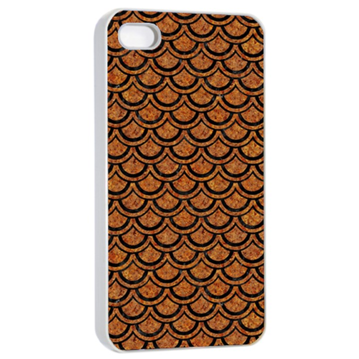 SCALES2 BLACK MARBLE & RUSTED METAL Apple iPhone 4/4s Seamless Case (White)