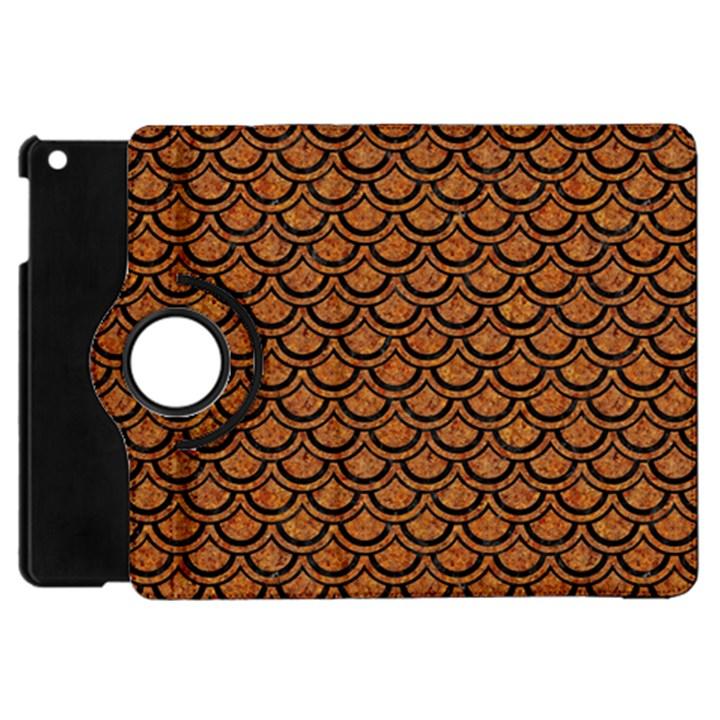 SCALES2 BLACK MARBLE & RUSTED METAL Apple iPad Mini Flip 360 Case