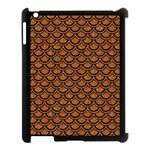 SCALES2 BLACK MARBLE & RUSTED METAL Apple iPad 3/4 Case (Black) Front