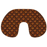 SCALES2 BLACK MARBLE & RUSTED METAL Travel Neck Pillows