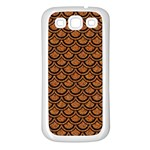 SCALES2 BLACK MARBLE & RUSTED METAL Samsung Galaxy S3 Back Case (White) Front