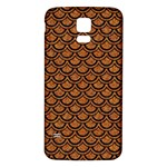 SCALES2 BLACK MARBLE & RUSTED METAL Samsung Galaxy S5 Back Case (White)