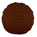 SCALES2 BLACK MARBLE & RUSTED METAL Large 18  Premium Flano Round Cushions