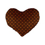 SCALES2 BLACK MARBLE & RUSTED METAL Standard 16  Premium Flano Heart Shape Cushions Back