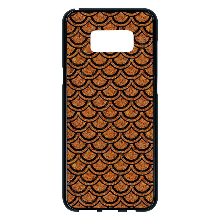 SCALES2 BLACK MARBLE & RUSTED METAL Samsung Galaxy S8 Plus Black Seamless Case