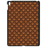 SCALES2 BLACK MARBLE & RUSTED METAL Apple iPad Pro 9.7   Black Seamless Case Front