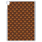 SCALES2 BLACK MARBLE & RUSTED METAL Apple iPad Pro 9.7   White Seamless Case