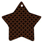 SCALES2 BLACK MARBLE & RUSTED METAL (R) Ornament (Star) Front