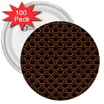 SCALES2 BLACK MARBLE & RUSTED METAL (R) 3  Buttons (100 pack)  Front