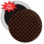 SCALES2 BLACK MARBLE & RUSTED METAL (R) 3  Magnets (100 pack) Front