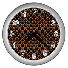 Scales2 Black Marble & Rusted Metal (r) Wall Clocks (silver)