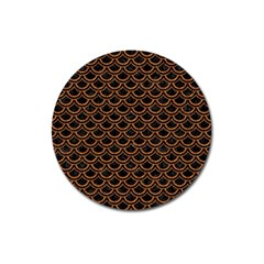 Scales2 Black Marble & Rusted Metal (r) Magnet 3  (round) by trendistuff