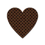 SCALES2 BLACK MARBLE & RUSTED METAL (R) Heart Magnet