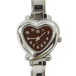 SCALES2 BLACK MARBLE & RUSTED METAL (R) Heart Italian Charm Watch Front