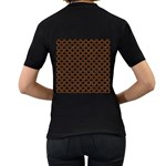 SCALES2 BLACK MARBLE & RUSTED METAL (R) Women s T-Shirt (Black) (Two Sided) Back