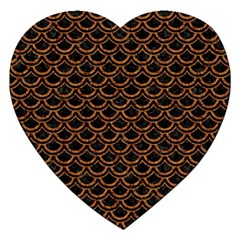 Scales2 Black Marble & Rusted Metal (r) Jigsaw Puzzle (heart)