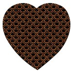 SCALES2 BLACK MARBLE & RUSTED METAL (R) Jigsaw Puzzle (Heart) Front