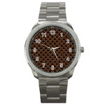 SCALES2 BLACK MARBLE & RUSTED METAL (R) Sport Metal Watch Front