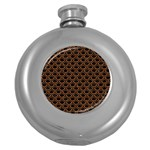 SCALES2 BLACK MARBLE & RUSTED METAL (R) Round Hip Flask (5 oz) Front