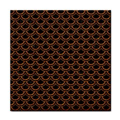 Scales2 Black Marble & Rusted Metal (r) Face Towel by trendistuff