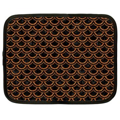 Scales2 Black Marble & Rusted Metal (r) Netbook Case (xl)  by trendistuff