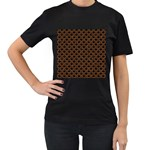 SCALES2 BLACK MARBLE & RUSTED METAL (R) Women s T-Shirt (Black) Front