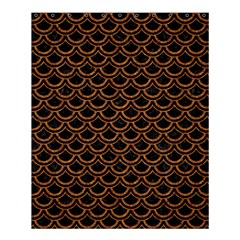 Scales2 Black Marble & Rusted Metal (r) Shower Curtain 60  X 72  (medium)