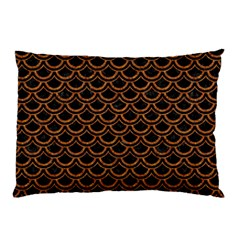 Scales2 Black Marble & Rusted Metal (r) Pillow Case (two Sides) by trendistuff