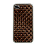 SCALES2 BLACK MARBLE & RUSTED METAL (R) Apple iPhone 4 Case (Clear) Front