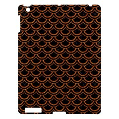 Scales2 Black Marble & Rusted Metal (r) Apple Ipad 3/4 Hardshell Case