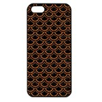 SCALES2 BLACK MARBLE & RUSTED METAL (R) Apple iPhone 5 Seamless Case (Black) Front