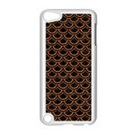 SCALES2 BLACK MARBLE & RUSTED METAL (R) Apple iPod Touch 5 Case (White) Front