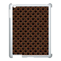 Scales2 Black Marble & Rusted Metal (r) Apple Ipad 3/4 Case (white) by trendistuff