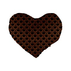Scales2 Black Marble & Rusted Metal (r) Standard 16  Premium Heart Shape Cushions by trendistuff