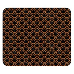 Scales2 Black Marble & Rusted Metal (r) Double Sided Flano Blanket (small)