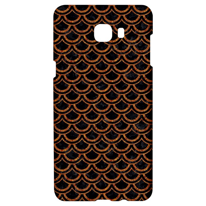 SCALES2 BLACK MARBLE & RUSTED METAL (R) Samsung C9 Pro Hardshell Case