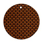 SCALES3 BLACK MARBLE & RUSTED METAL Ornament (Round)