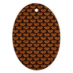 SCALES3 BLACK MARBLE & RUSTED METAL Ornament (Oval) Front