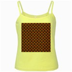 SCALES3 BLACK MARBLE & RUSTED METAL Yellow Spaghetti Tank