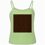SCALES3 BLACK MARBLE & RUSTED METAL Green Spaghetti Tank